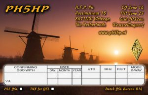 Backside QSL-card
