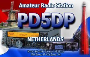 QSL-card made by Darren Loxley